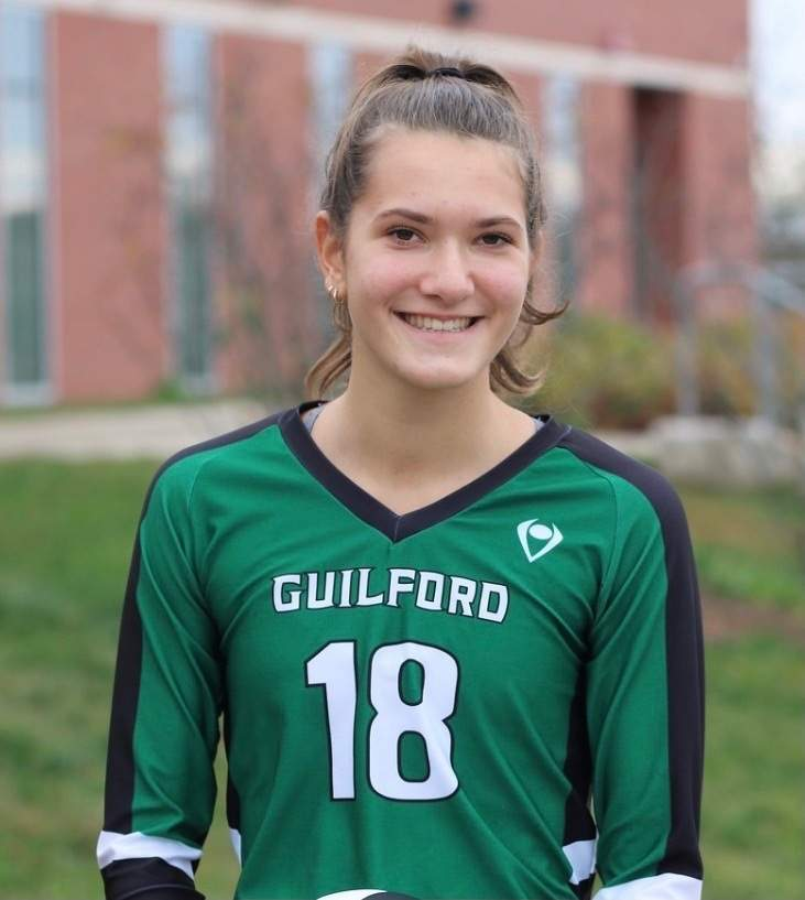 Olivia Ciocca has 193 assists to her name as a senior setter for the Guilford girls' volleyball squad this fall. Photo courtesy of Olivia Ciocca