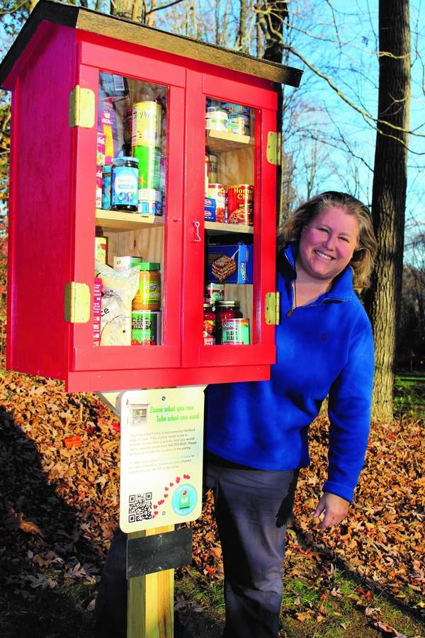 "The Little Free Pantry in Clinton came about thanks to Christine Baker and, as she puts it, ""the whole neighborhood."" Photo courtesy of Christine Baker"