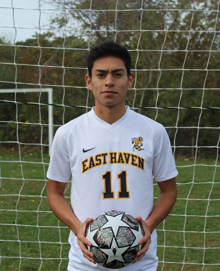 Victor Calvillo secured a spot on the All-SCC Division B Team for his excellent play on defense with the East Haven boys' soccer squad this fall. Photo courtesy of Victor Calvillo