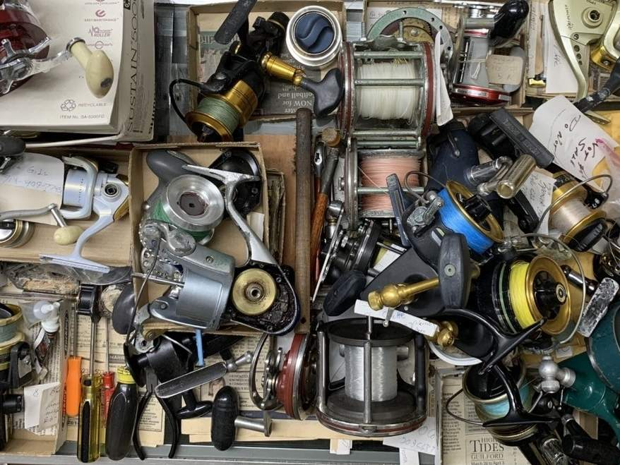 There was an increase in the number of old fishing reels that needed to be rejuvenated due to the COVID-19 pandemic as fishers returned to their once favorite pastime. Photo courtesy of Captain Morgan