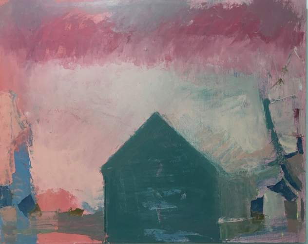 A sampling of artists' works found among those of SAT '20 Virtual Open Studios include this piece by Lisa Hesselgrave, Pink Steel, oil on panel, 24 X 30, $2,200.