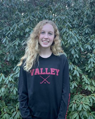 Sophomore Callie Breitenbach earned a spot on the Valley Regional field hockey team's varsity squad after proving herself as a JV captain last year. Callie also plays ice hockey and lacrosse. Photo courtesy of Callie Breitenbach