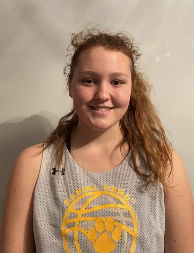 Sophomore center Coco Rourke feels eager take the floor with the Hand girls' basketball squad this winter. Coco is looking forward to buoying the Tigers' spirits with relentless effort on both ends of the court. Photo courtesy of Coco Rourke