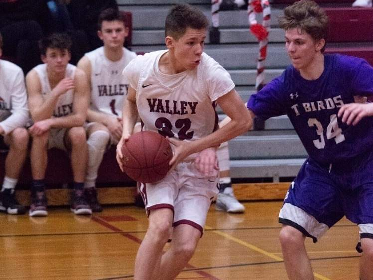 Senior captain Marcus SantaMaria and the Valley Regional boys' basketball team are flying under the radar in the Shoreline Conference with some prognosticators. The Warriors are a talented group with good roster depth. Photo courtesy of Agata Luff