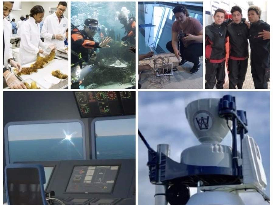 A place where related marine and aquaculture courses are taught, The Sound School prepares students for in-demand diversified employment opportunities within those industries. Photo illustration courtesy of Captain Morgan
