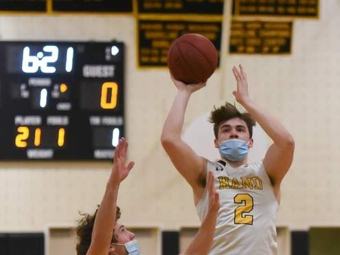 Senior Nick Donofrio scored 17 points when the Tigers dispatched Cheshire in a SCC Division II quarterfinal game on March 20. File photo by Kelley Fryer/The Source