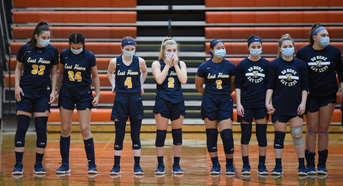 East Haven girls basketball lost 38-40 to Shelton in the first game of the SCC Tournamentt at Shelton. Photo by Kelley Fryer/The Courier