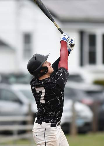 Junior Owen Pincince is starting in right field and will also be giving North Haven some innings on the mound during the 2021 spring season. Photo by Kelley Fryer/The Courier