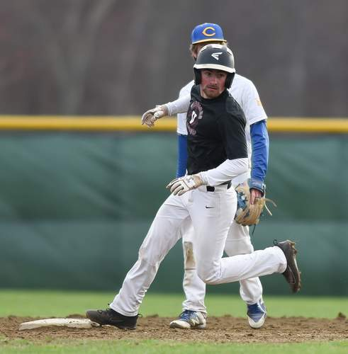 Senior Sam Helsel and the Valley Regional baseball squad notched their first win of the season with a 9-1 victory against Morgan on April 12. Helsel had a pair of hits in the victory. File photo by Kelley Fryer/The Courier