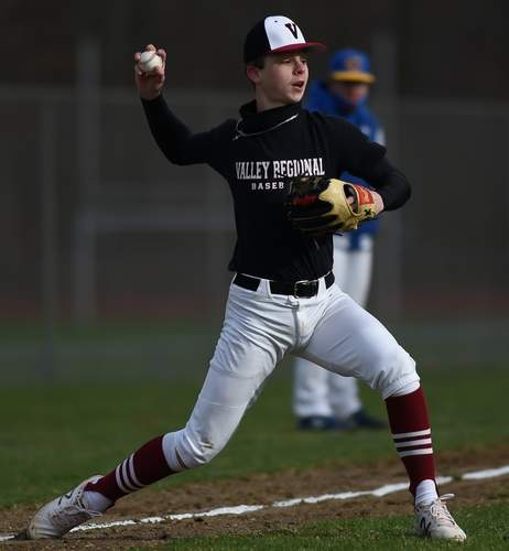 Sophomore Braeden Sparaco can play a variety of infield positions for the Warriors including shortstop, third base, and second base. File photo by Kelley Fryer/The Courier