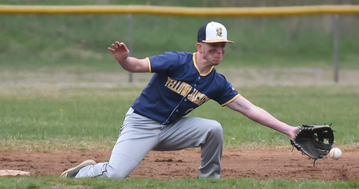 East Haven beat Branford 8-5 at The Pit - Kennedy Field, East Haven. Jake Cillo (19) Photo by Kelley Fryer/The Courier