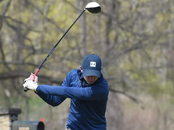 Senior captain Ian Reynolds has been shooting some solid scores to help the East Haven boys' golf team jump out to a 5-2 start to its season. Photo by Kelley Fryer/The Courier