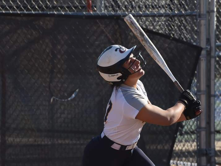Junior Emilee Bishop and the East Haven softball team improved to 5-1 on the year after winning two of their three games last week. File photo by Kelley Fryer/The Courier