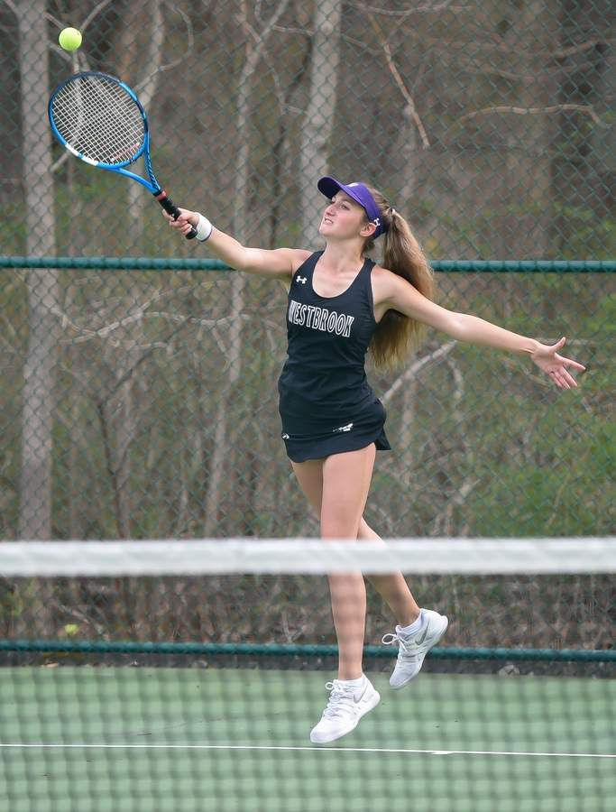 Westbrook Boys and Girls Tennis took on East Hampton at home. Ava Ciarcia Photo by Kelley Fryer/Harbor News