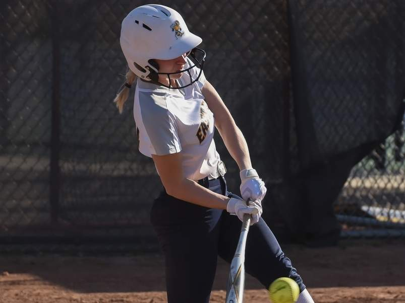 Senior captain Samantha Franceschi and the Yellowjackets had a big week at the plate by scoring a combined 43 runs between the team's victories versus Sheehan, Amity, and West Haven. File photo by Kelley Fryer/The Courier