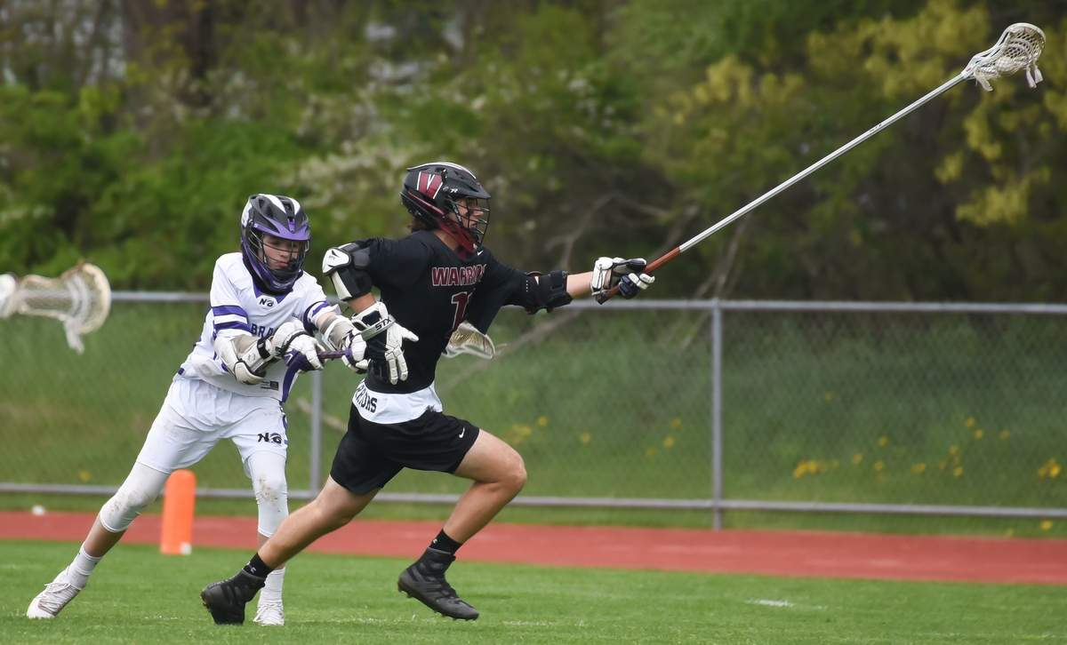 Valley Regional Boys Lacrosse beat North Branford 7-14 at North Branford High School. Benjamin Safran  (11) Photo by Kelley Fryer/The Courier