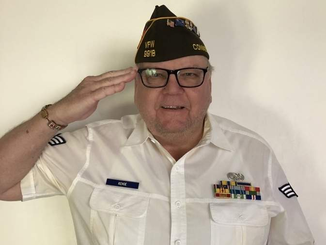 A U.S. Air Force veteran of the Vietnam era, Tom Kehoe is an active member of both VFW Post 9918 and the American Legion. Photo courtesy of Tom Kehoe