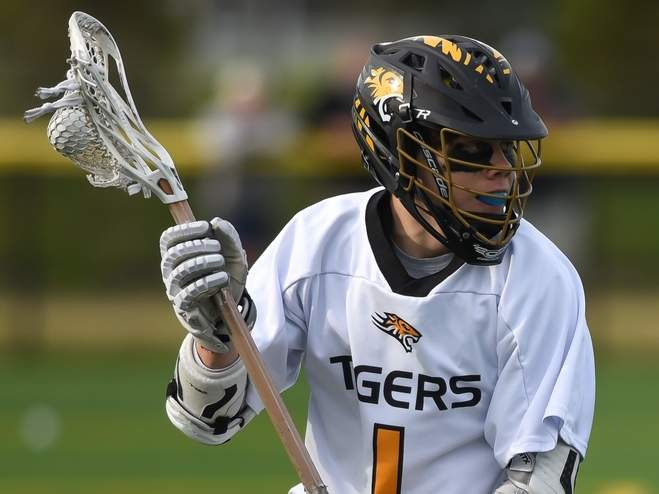 Senior Sam Sisk and the Hand boys' lacrosse team enjoyed a big week on the field that saw the Tigers win all four of their games to improve to 8-3 in the spring season. File photo by Kelley Fryer/The Source