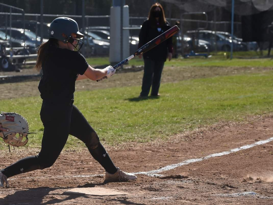 Junior Jamie Swiatek had two RBI when the North Haven softball squad earned an 8-3 win versus Lauralton Hall on May 4. File photo by Kelley Fryer/The Courier