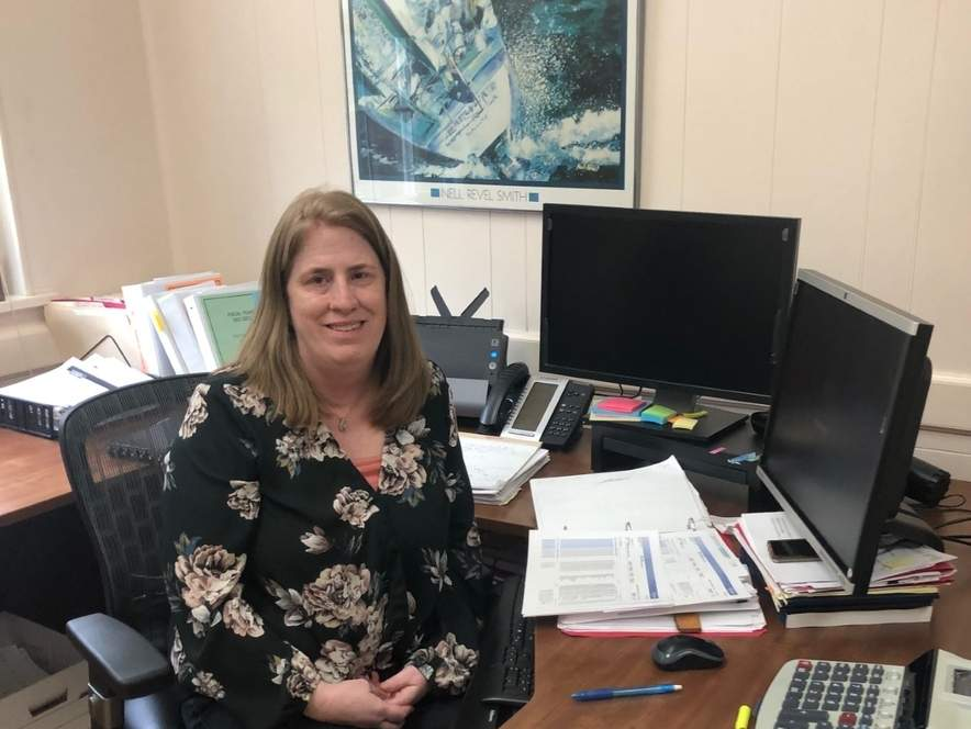 Clinton resident and Westbrook Deputy Treasurer Tracey Celentano is celebrating her first year as finance director of Essex. Photo by Rita Christopher/Harbor News